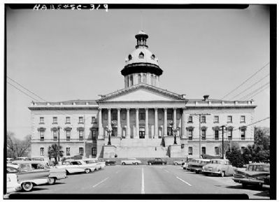 The State House of South Carolina South Facade image. Click for full size.
