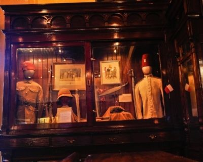 Historical artifacts at the Menger Bar image. Click for full size.