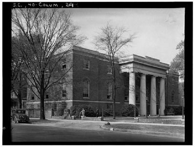 The South Caroliniana Library South and west (front )elevations image. Click for full size.