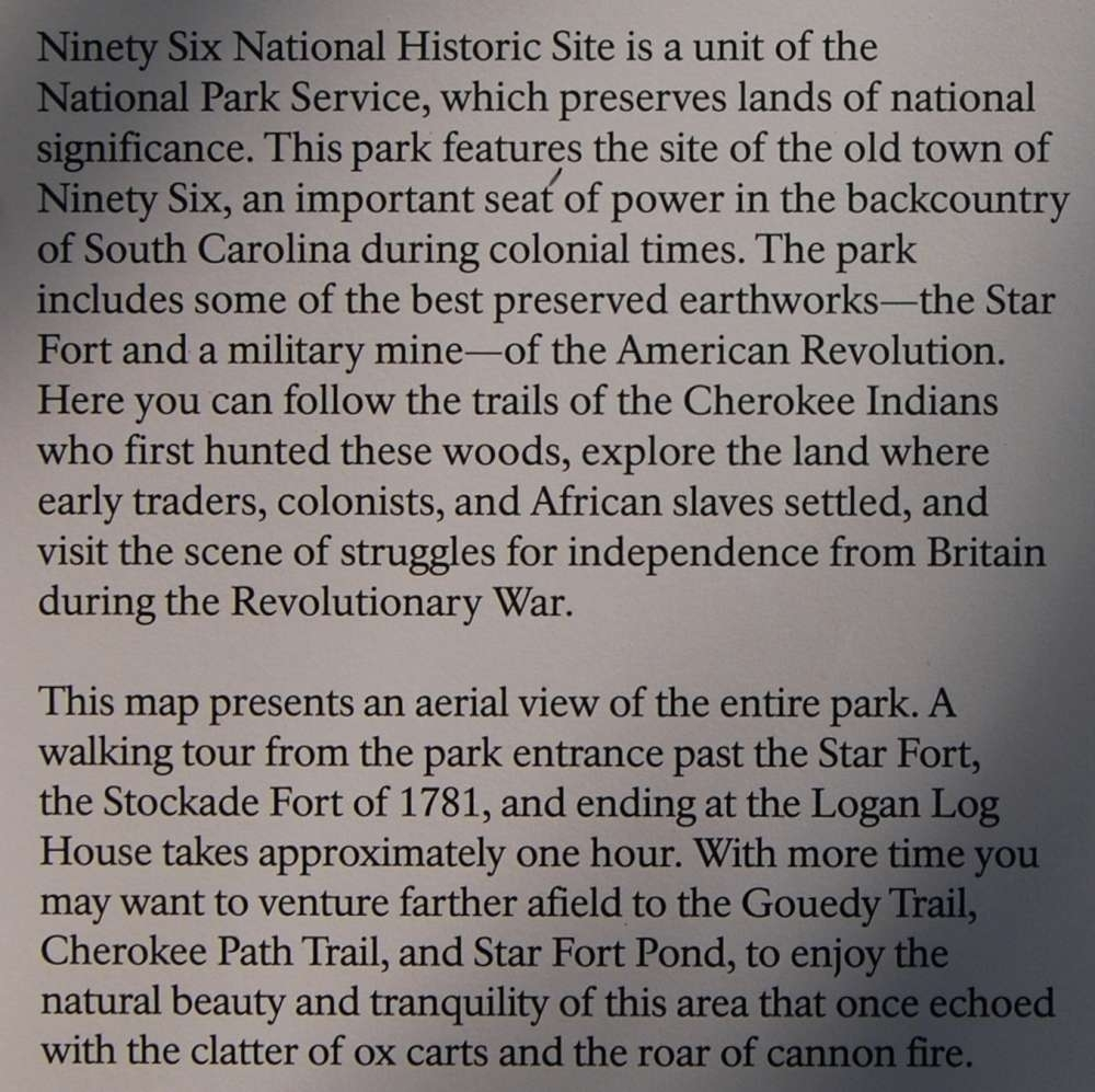 Ninety Six National Historic Site Marker