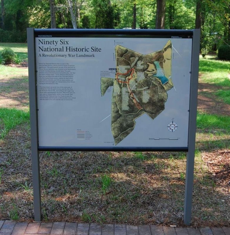 Ninety Six National Historic Site Marker (Former Location) image. Click for full size.
