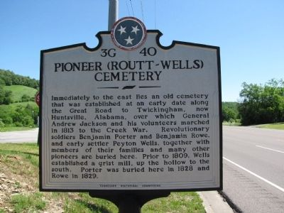 Pioneer (Routt - Wells) Cemetery Marker image. Click for full size.