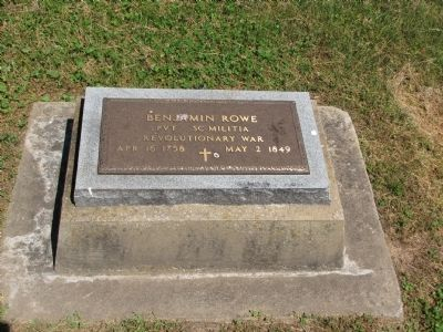 Benjamin Rowe headstone image. Click for full size.