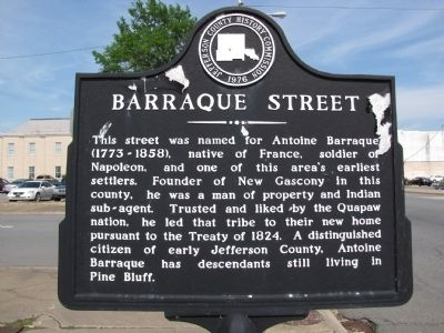 Barraque Street Marker image. Click for full size.