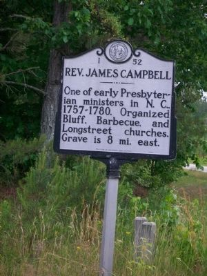 Rev. James Campbell Marker image. Click for full size.
