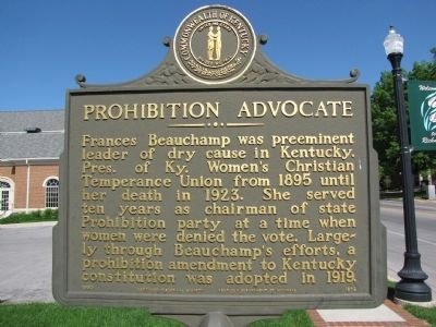Frances E. Beauchamp / Prohibition Advocate Marker image. Click for full size.