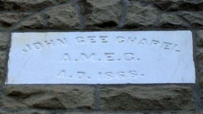 John Gee A.M.E. Church Stone Marker image. Click for full size.