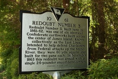 Redoubt Number 3 Marker image. Click for full size.