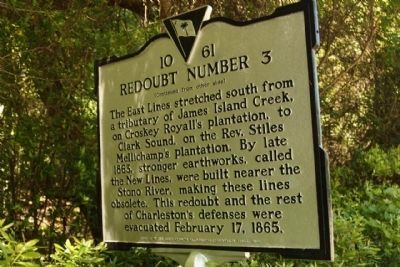 Redoubt Number 3 Marker, reverse side image. Click for full size.