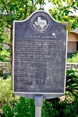 250th Anniversary of the Founding of San Antonio Marker image. Click for full size.