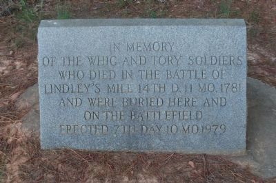 The Battle of Lindley's Mill Memorial Marker image. Click for full size.