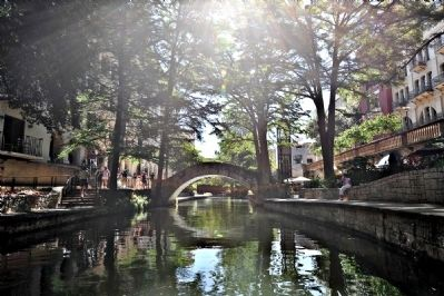 The San Antonio River Walk is Lined with Many Bars, Hotels, and Restaurants image. Click for full size.