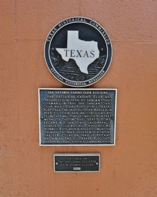 San Antonio Casino Club Building Marker image. Click for full size.