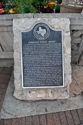 Commerce Street Bridge Marker (front view) image. Click for full size.