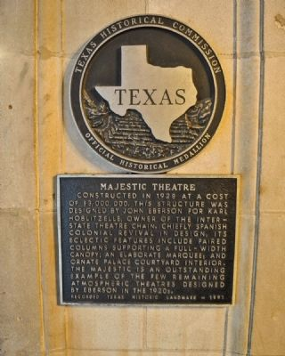 Majestic Theatre Marker image. Click for full size.