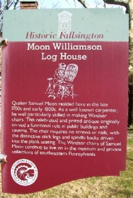 Moon Williamson Log House Marker image. Click for full size.