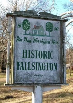 Nearby Historic Fallsington Sign image. Click for full size.