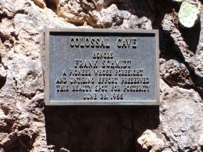 Plaque above Cave Entrance image. Click for full size.