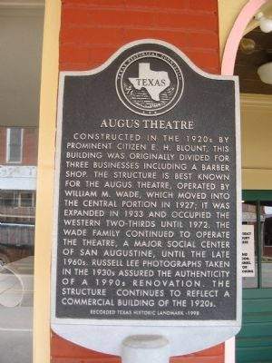 Augus Theatre Marker image. Click for full size.