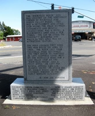 Rockville Station Marker - Reverse image. Click for full size.