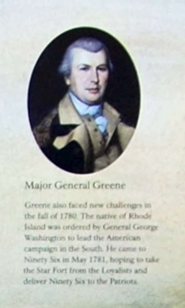 The Siege of Ninety Six Marker -<br>Major General Greene