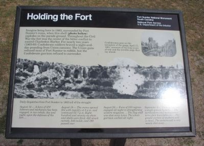 Holding the Fort Marker image. Click for full size.