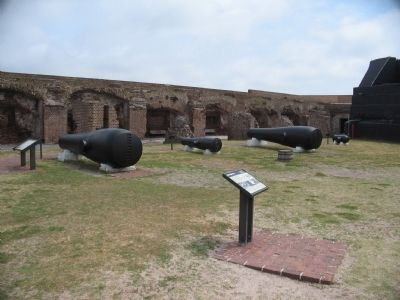 Markers and Cannons in Front of the Right Flank Casemates image. Click for full size.