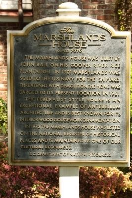 Marshlands House Marker image. Click for full size.