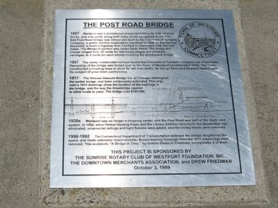 The Post Road Bridge Marker image. Click for full size.