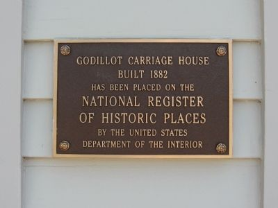 Godillot Carriage House Marker image. Click for full size.