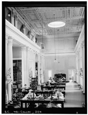 The South Caroliniana Library Main Reading room, looking east image. Click for full size.