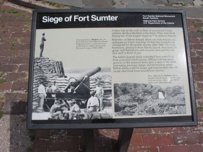 Siege of Fort Sumter Marker image. Click for full size.