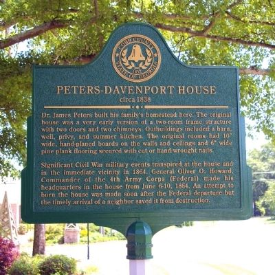 Peters-Davenport House Marker image. Click for full size.