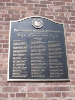 Old Schoolhouse and Firehouse Museum Patron Recognition Plaque image. Click for full size.