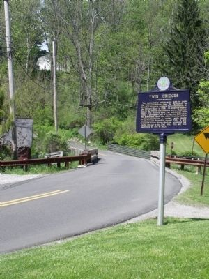 Twin Bridges Marker image. Click for full size.