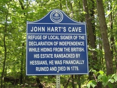 John Hart's Cave Marker image. Click for full size.
