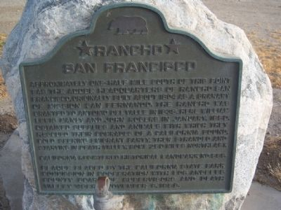 Rancho San Francisco Marker image. Click for full size.