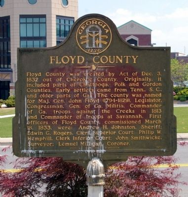 Floyd County Marker image. Click for full size.
