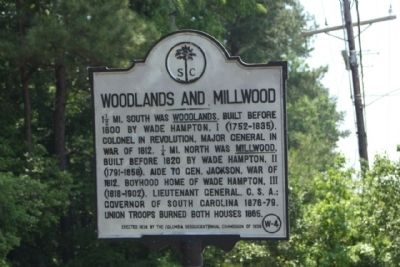 Woodlands and Millwood Marker image. Click for full size.