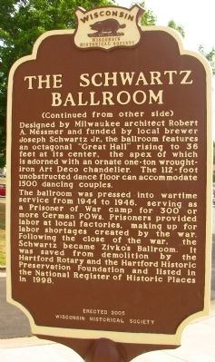 The Schwartz Ballroom Marker image. Click for full size.