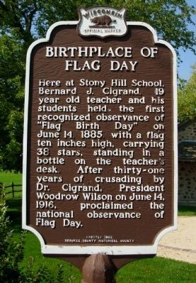 Birthplace of Flag Day Marker image. Click for full size.