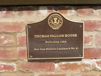 Plaque Mounted on the Fallon House image. Click for full size.