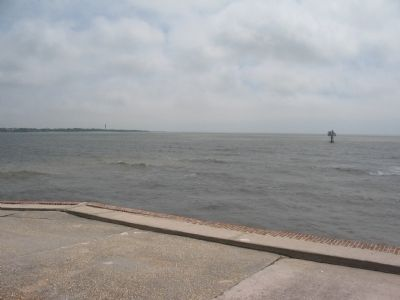 Main Channel Entrance to Charleston Harbor image. Click for full size.
