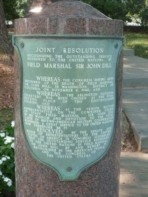 """Joint Resolution"" - Field Marshall Sir John Dill Memorial image. Click for full size."