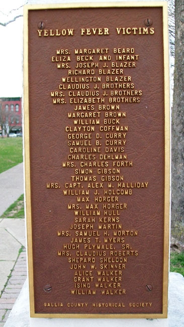 Yellow Fever Victims Memorial Marker