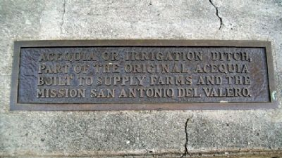 Acequia (Irrigation Ditch) Marker image. Click for full size.