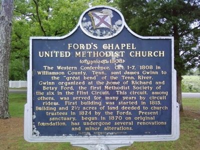 Ford's Chapel United Methodist Church Marker image. Click for full size.