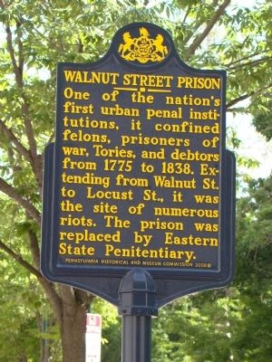 Walnut Street Prison Marker image. Click for full size.