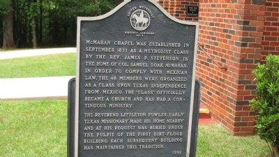 McMahan's Chapel Marker image. Click for full size.