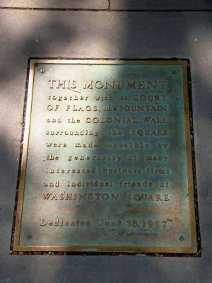 Tablet Set Into the Pavement in Front of Monument image. Click for full size.